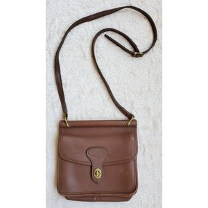 Jack Georges distressed leather crossbody bag